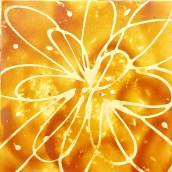Medium Orange Abstract Flower