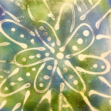 Medium Blue Abstract Flower