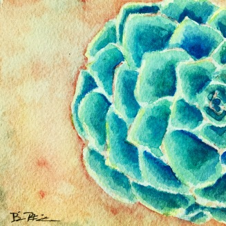 Succulent in Watercolor